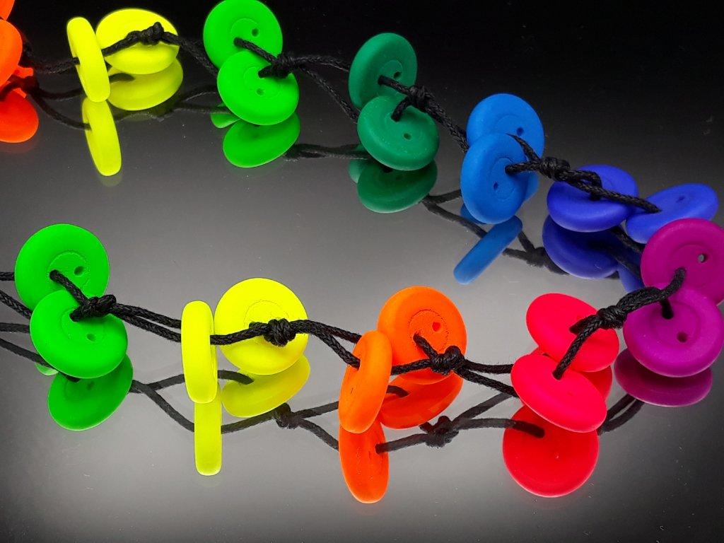 Náhrdelník barevné knoflíky