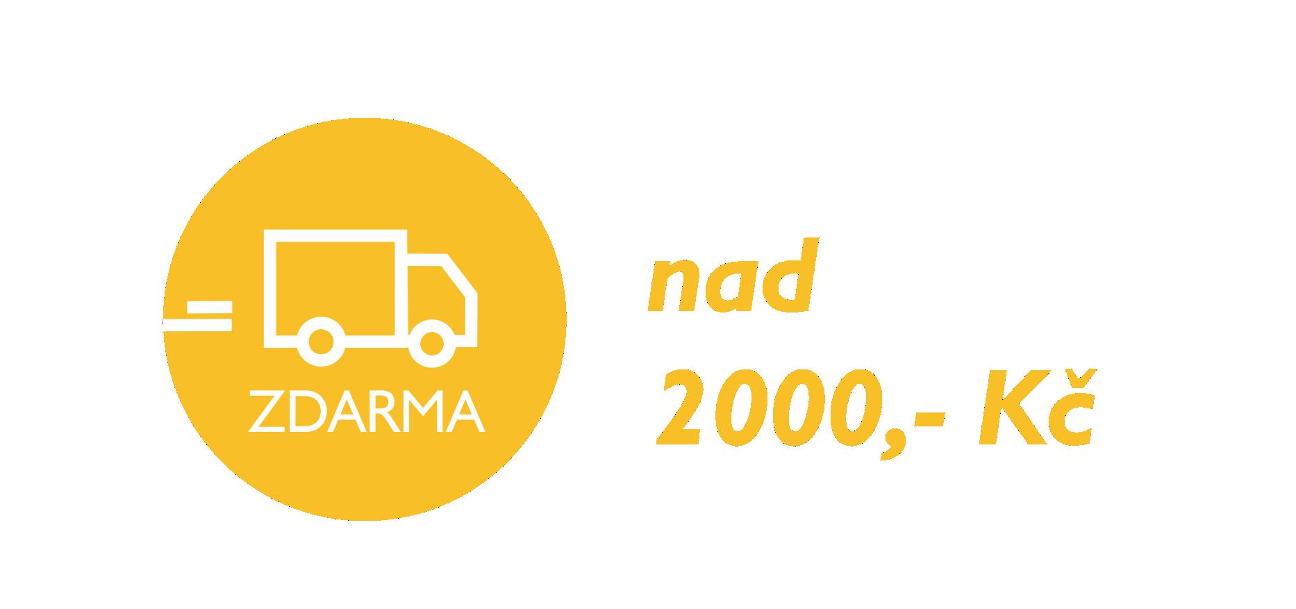 Doprava ZDARMA nad 2000 Kč