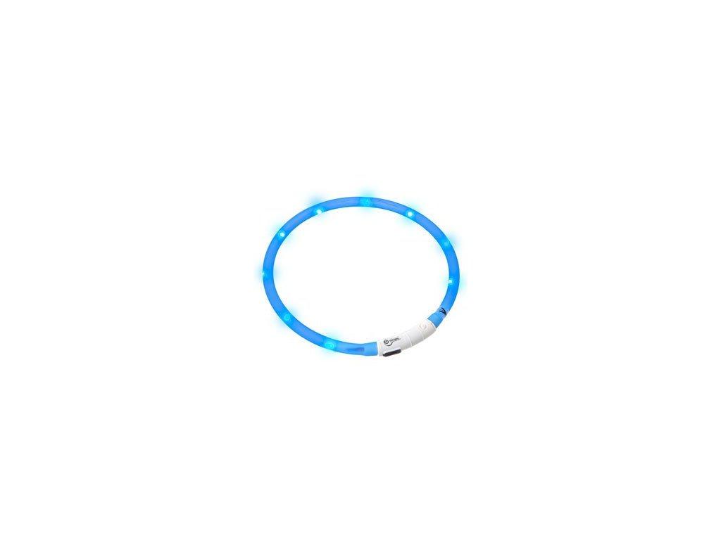LED svetelny obojek modry obvod 20 75 cm sviti cca 500m daleko USB nabijeni 1108201608285156513