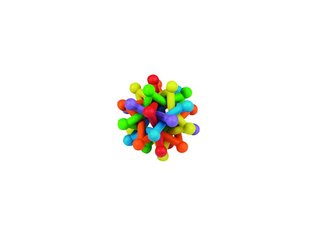 hracka gumova atom barevny 10cm 2304201623245472622
