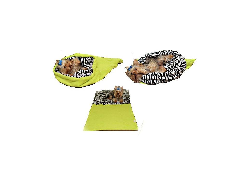 Pelisek pro psy XL svetle zelena zebra 1311201709492878553