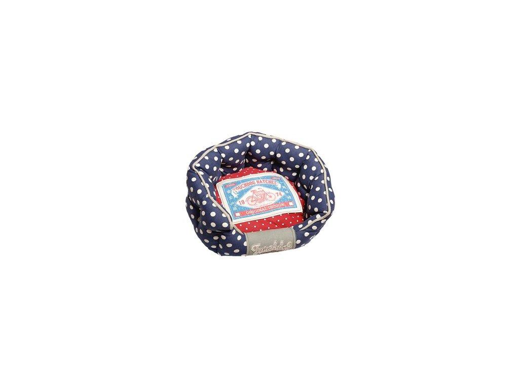 pelech touchdog ovalny modro cerveny 65x56x22cm 2304201623244352214