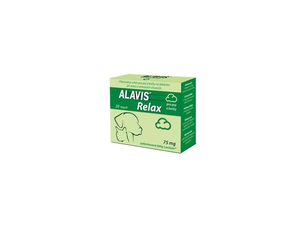 ALAVIS Relax pro psy a kocky 75mg 20 kapsli 0210201507521532266