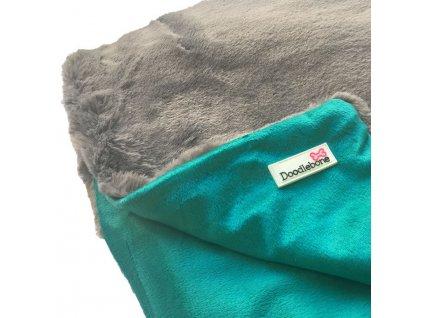 Luxusni mekka deka Doodlebone modro zelena 1101201808325920897