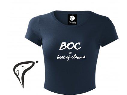 Dámské tričko, bílá/šedá/navy - BOC = best of clowns