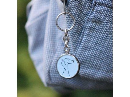 Přívěšek na klíče - saluki
