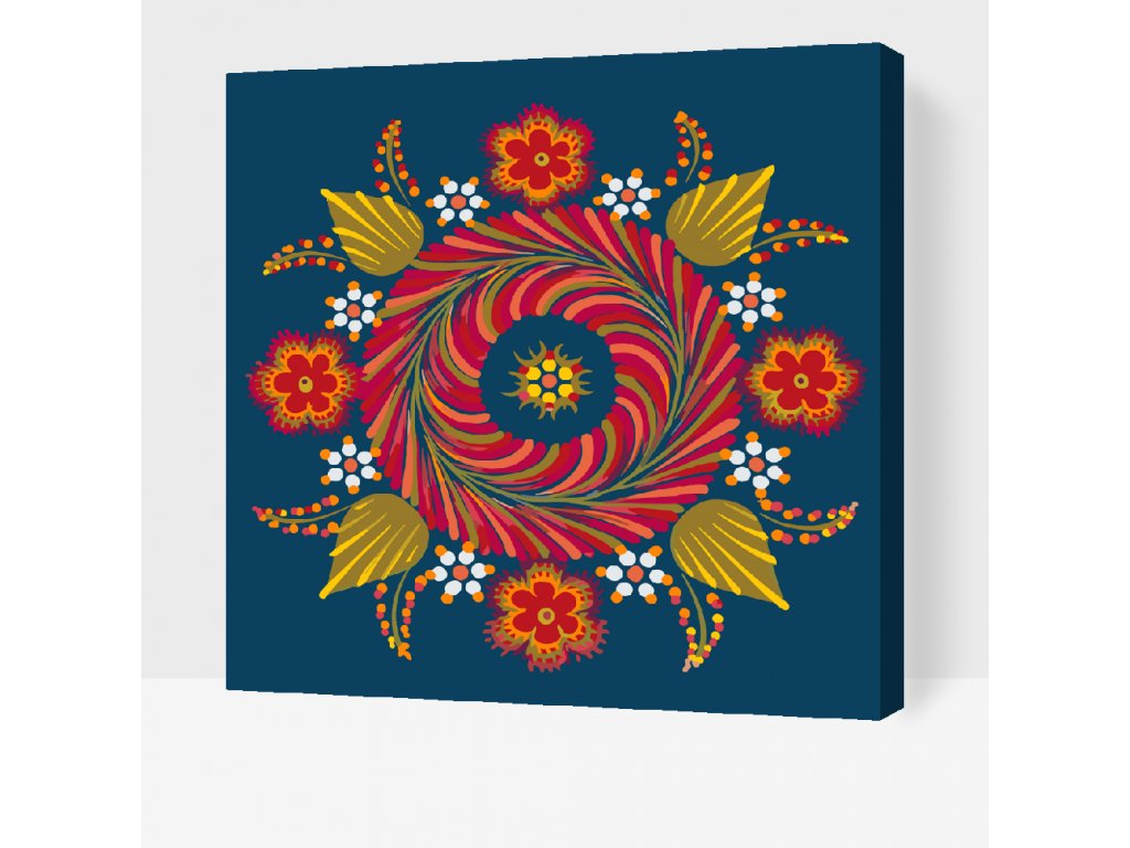 Paint by Number - Mandala4 (Frame Without Frame (canvas only), Size 50x50cm (20'' x 20''))