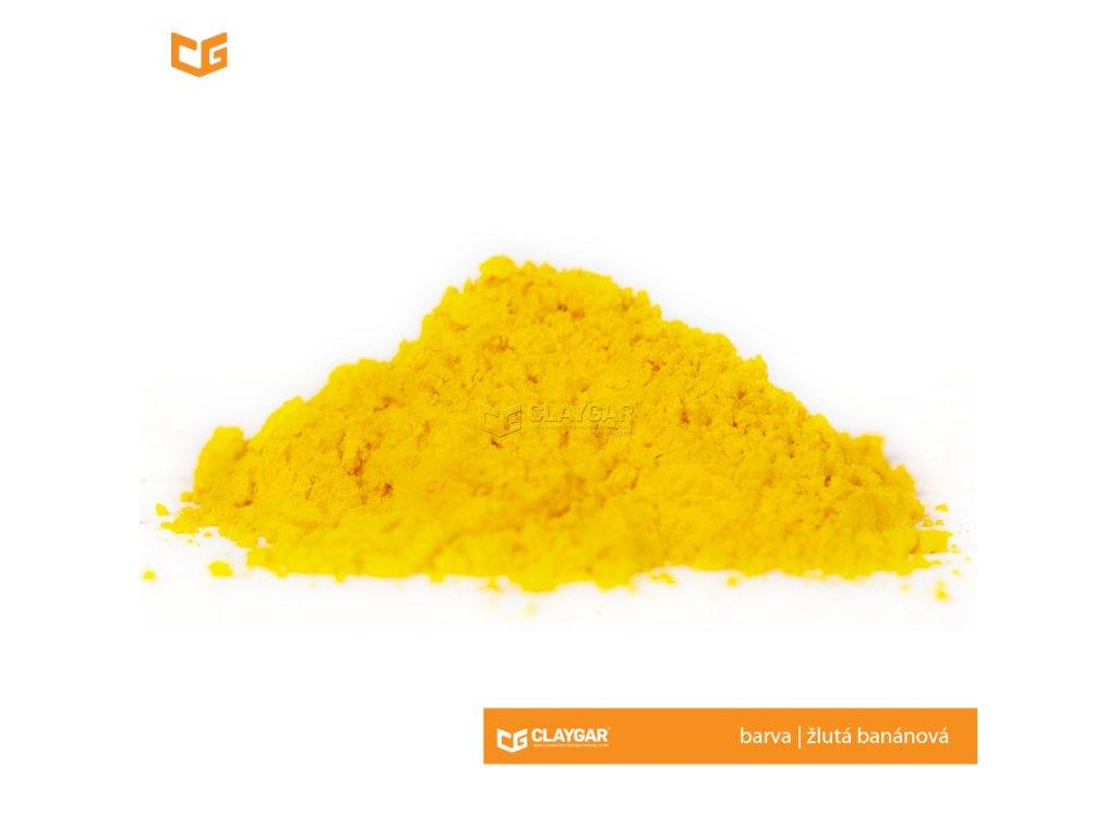 Claygar práškový organický pigment - barva žlutá banánová