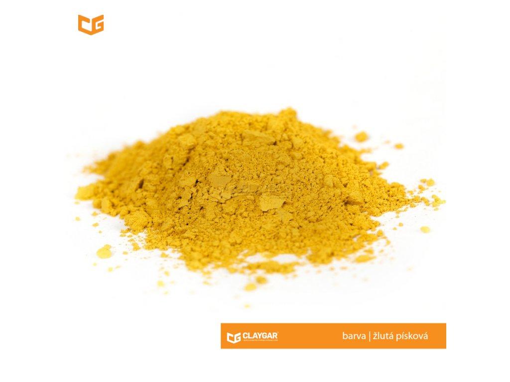 Claygar práškový přírodní pigment - barva žlutá písková
