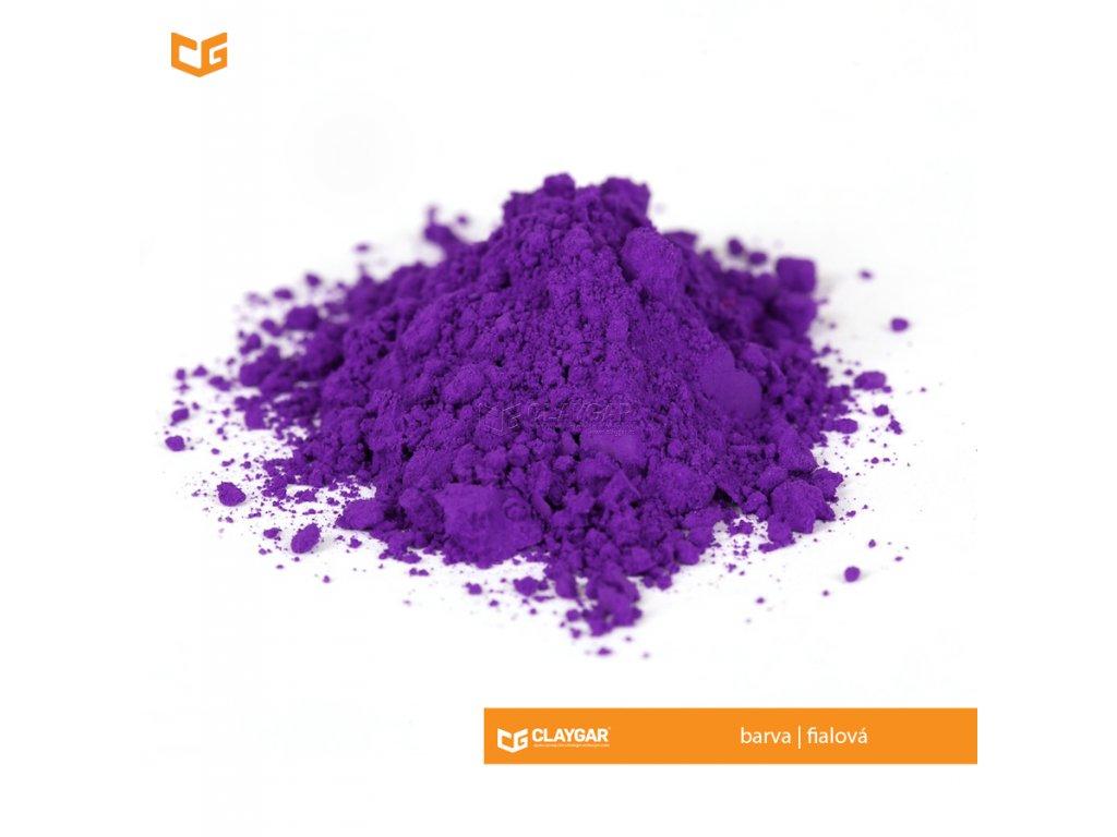 Claygar práškový organický pigment - barva fialová