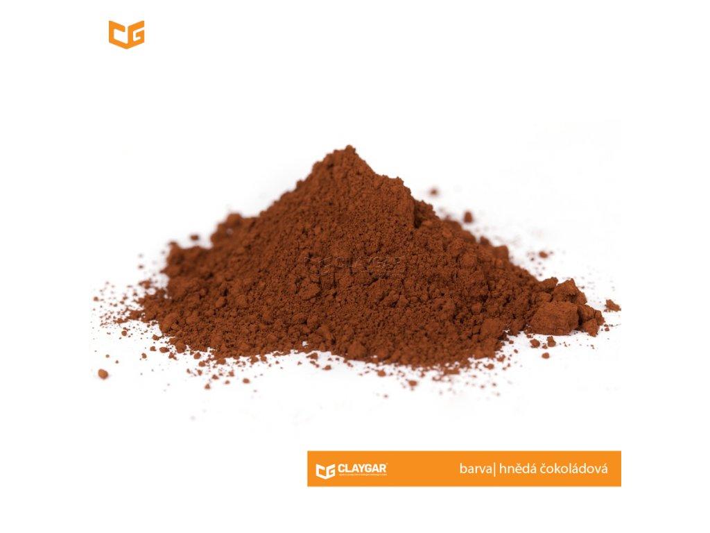 Claygar práškový přírodní pigment - barva hnědá čokoládová