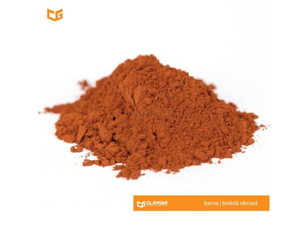 Claygar práškový přírodní pigment - barva hnědá okrová