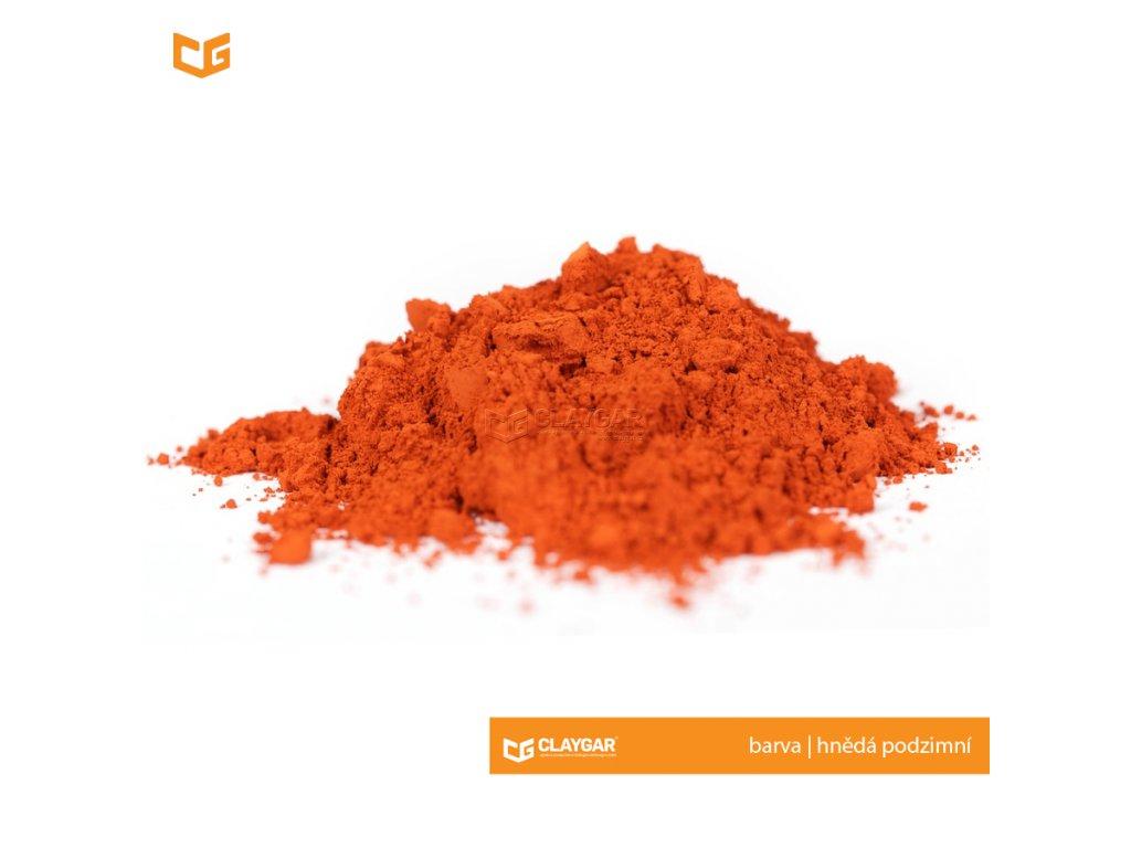 Claygar práškový přírodní pigment - barva hnědá podzimní