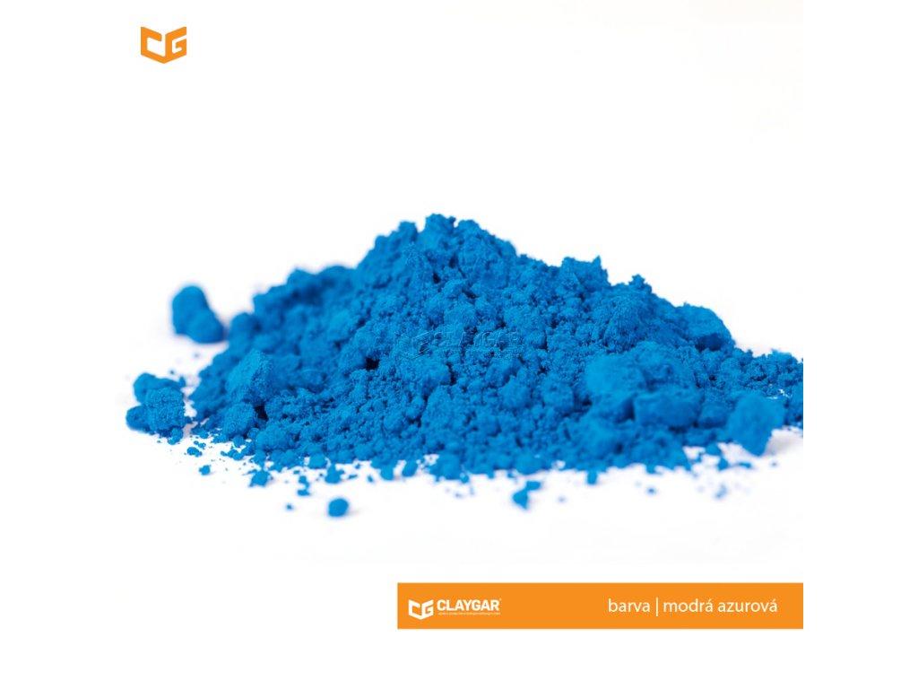 Claygar práškový organický pigment - barva modrá azurová