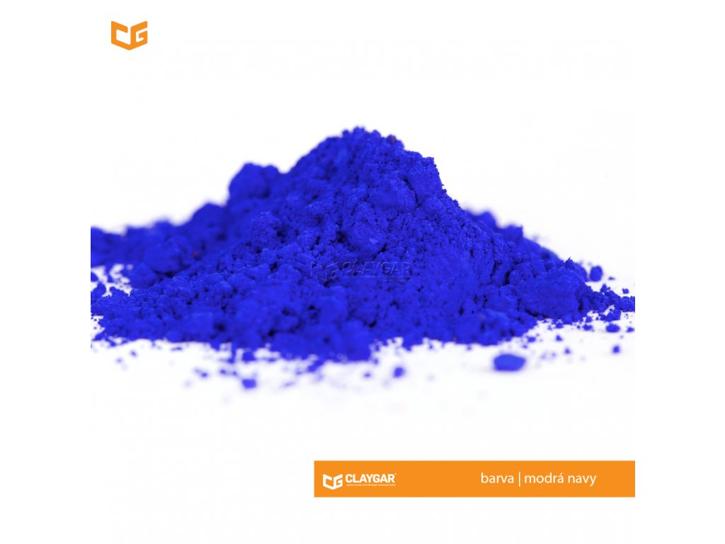 Claygar práškový anorganický pigment - barva modrá navy