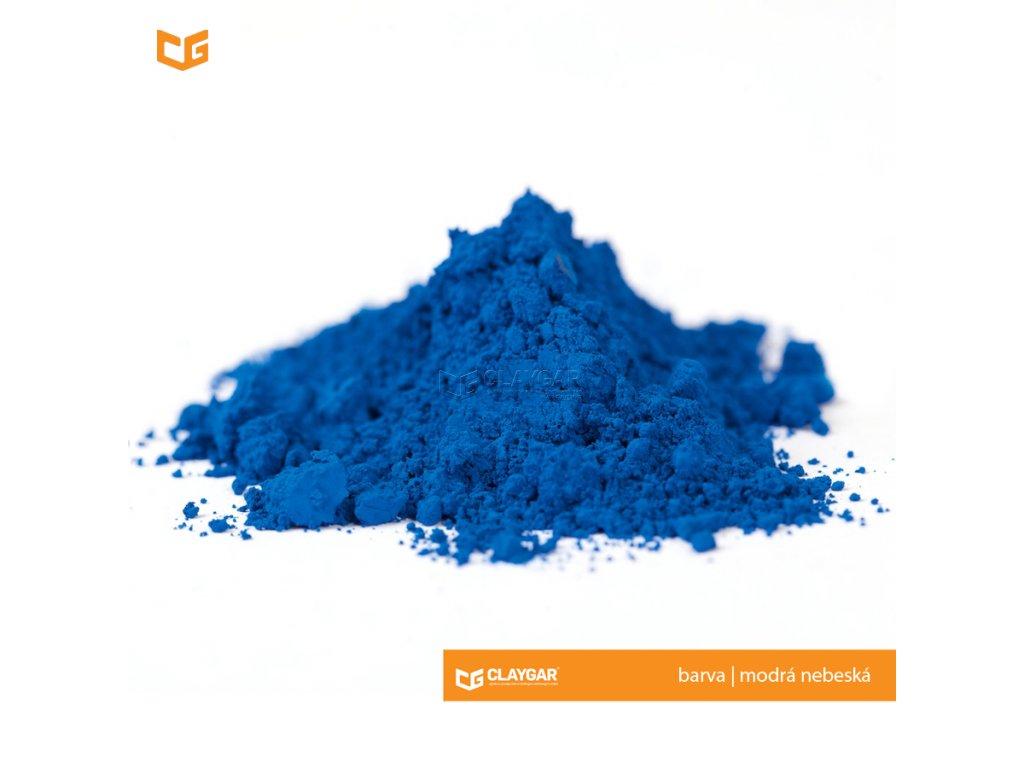 Claygar práškový organický pigment - barva modrá nebeská
