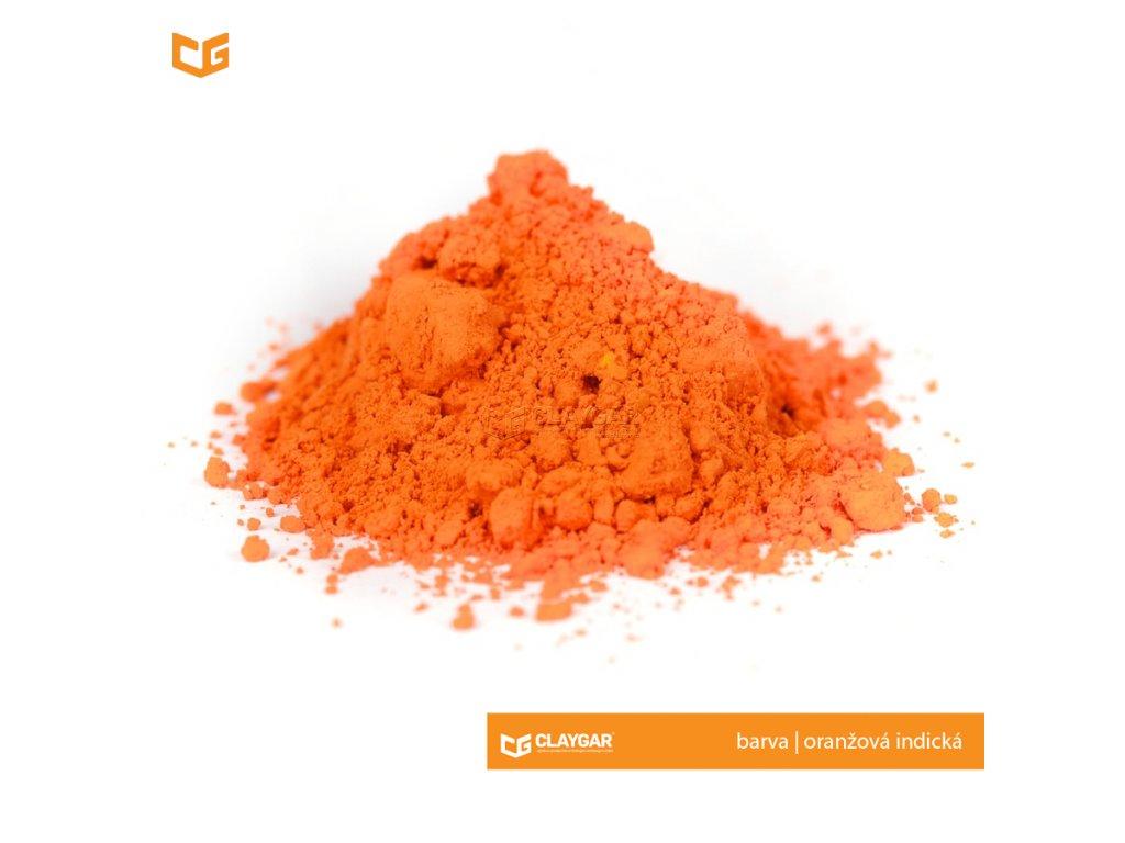 Claygar práškový organický pigment - barva oranžová indická