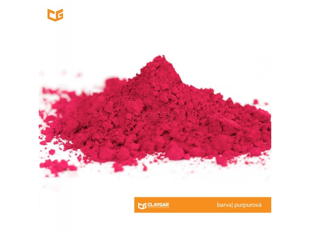 Claygar práškový organický pigment - barva purpurová
