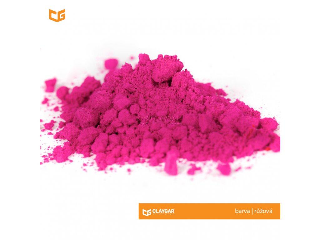 Claygar práškový organický pigment - barva růžová
