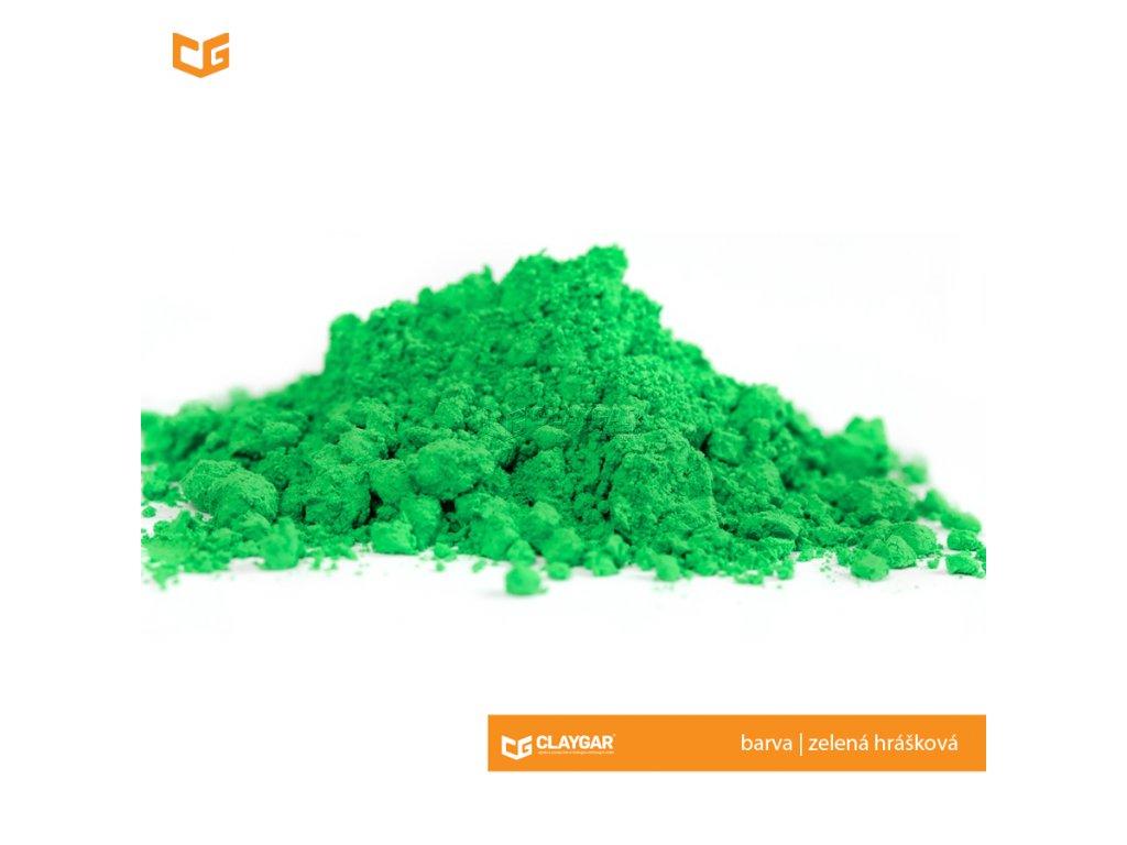 Claygar práškový organický pigment - barva zelená hrášková