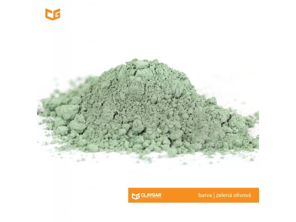 Claygar práškový přírodní pigment - barva zelená olivová