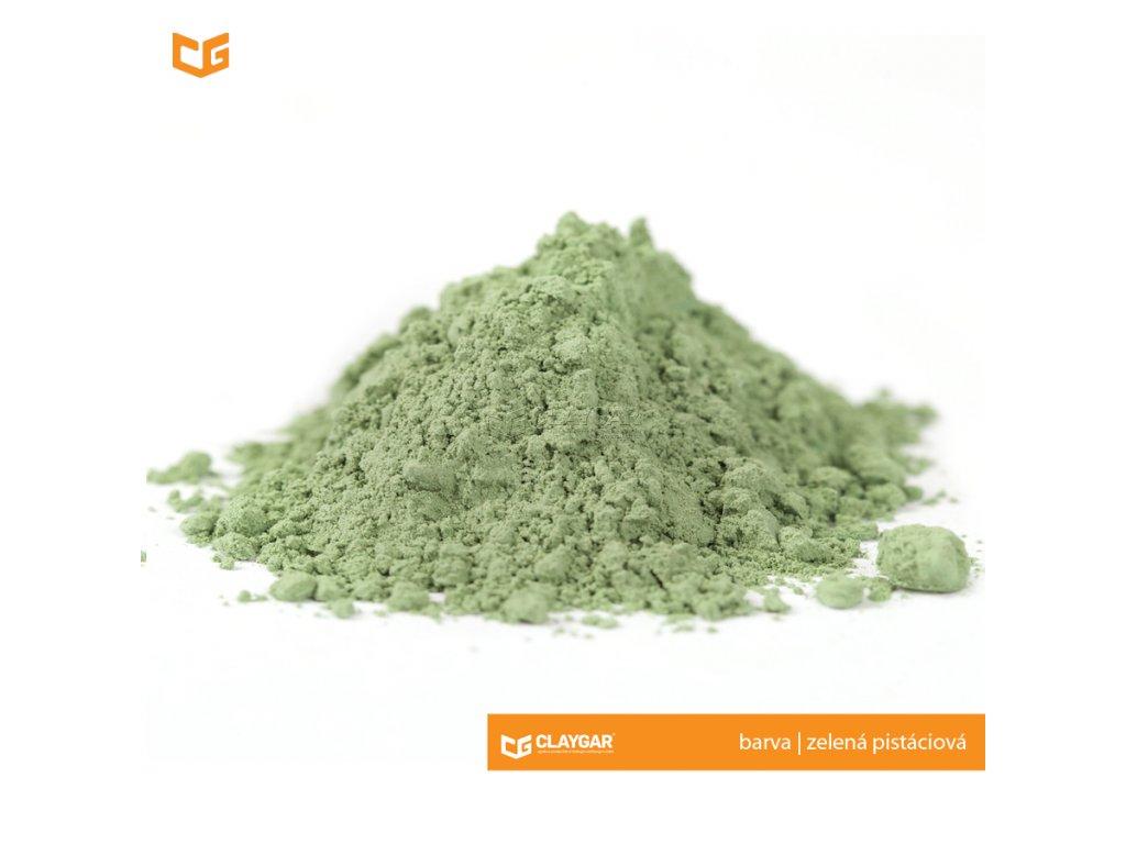 Claygar práškový přírodní pigment - barva zelená pistáciová