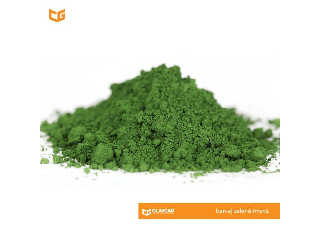 Claygar práškový organický pigment - barva zelená tmavá