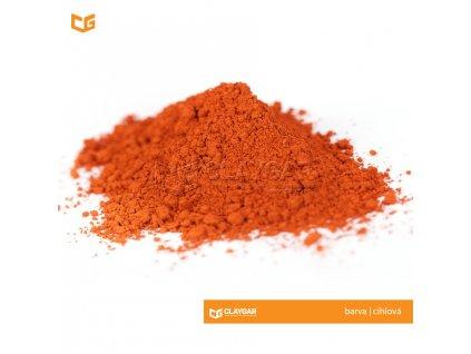Claygar práškový přírodní pigment - barva cihlová
