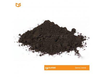 Claygar práškový přírodní pigment - barva černá