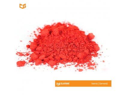 Claygar práškový organický pigment - barva červená