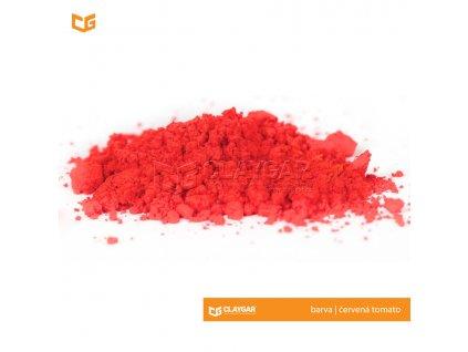 Claygar práškový organický pigment - barva červená tomato