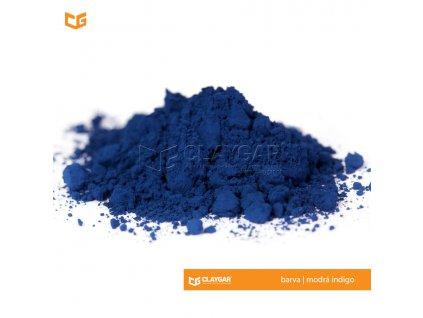 Claygar práškový anorganický pigment - barva modrá indigo
