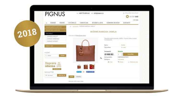 Spustili jsme nový e-shop PIGNUS.cz