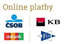 Online platby (přímo z vaší banky i převodem)