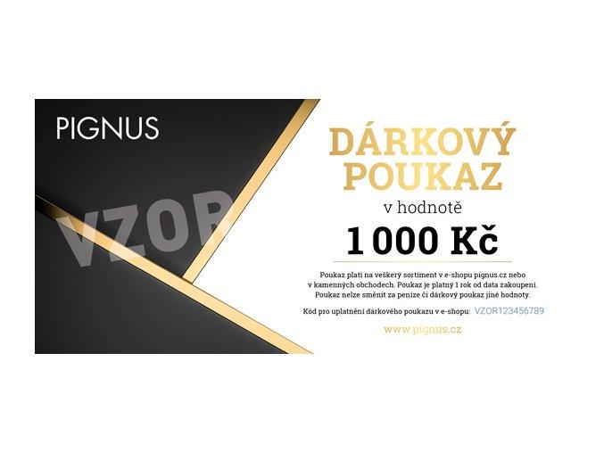 PIGNUS darkovy poukaz vzor 1000