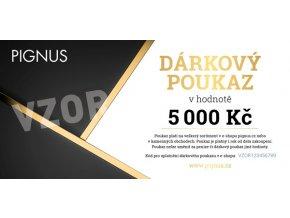 PIGNUS darkovy poukaz vzor 5000