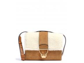 coccinelle arlettis shearling crossbody bag brown e1gfa120701 800 31