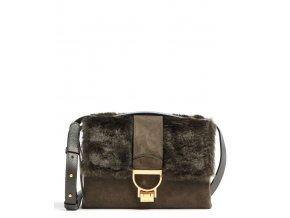 coccinelle arlettis teddy crossbody bag green e1gfc120701 g20 31