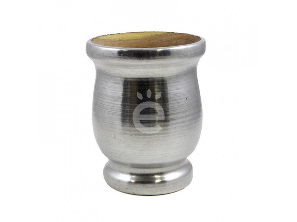 Yerba maté / pohárek algarrobo okovaný 01 M