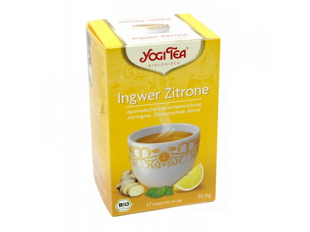Yogi Tea - Ginger Lemon (zázvor a citron)BIO