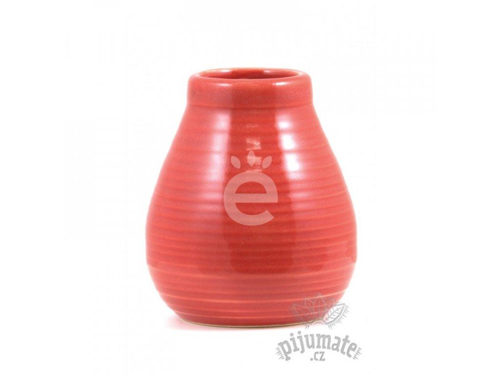 Kalabasa keramická, vroubek, červená / KA-11-RED
