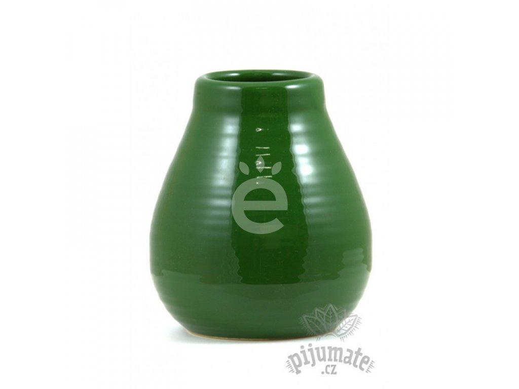 Kalabasa keramická, vroubek, zelená / KA-13-GREEN