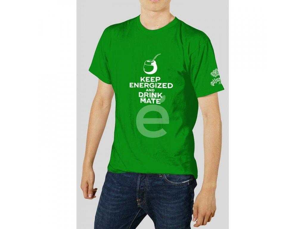 Triko - Keep Energized zelené Barvy - Pánské
