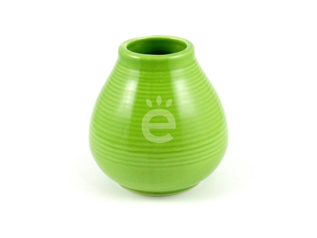 kalabasa keramika zelena vroubky P KA 47