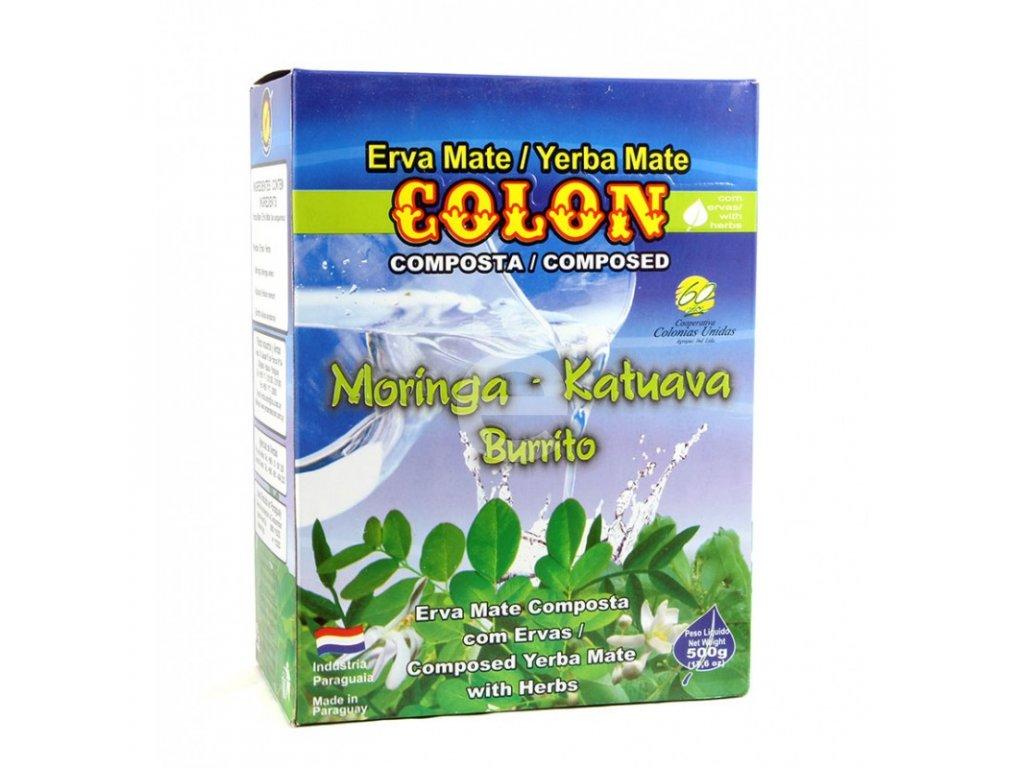Yerba Maté / Colon s bylinami - moringa, katuava, burrito - 500 g