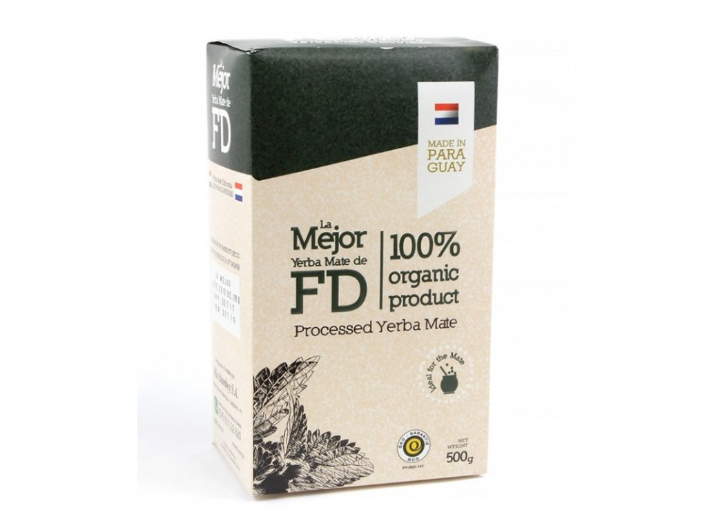 Yerba Maté / Fede Rico La Mejor organic sin palo - 500 g