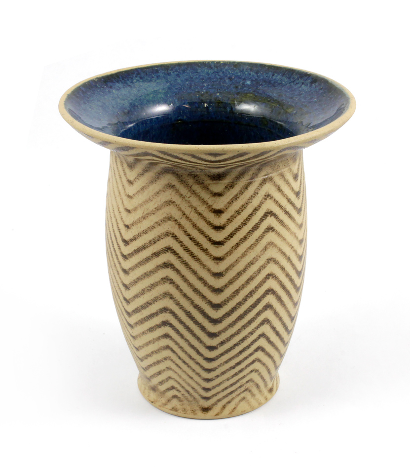 Nádoba CUIA medium - z keramiky modro-hnědá - 15