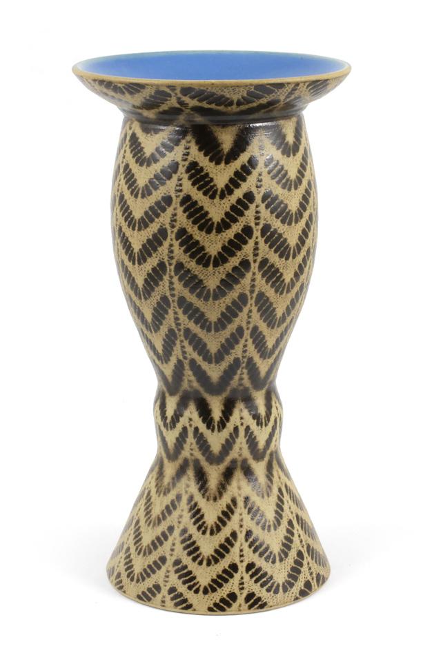 Nádoba CUIA big - z keramiky modro-hnědá - 28