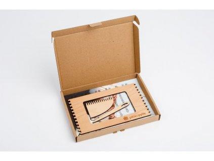 Tkaci ramecek obdelnik krabice otevrena 2