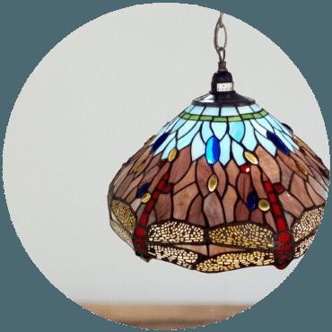 Dragonfly - Searchlight svítidla Tiffany